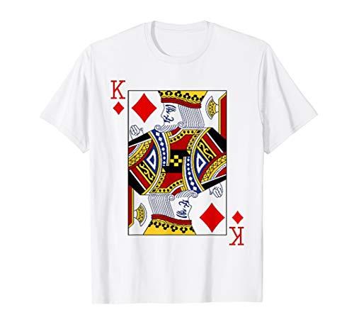 King of Diamonds Playing Card Poker Blackjack T-Shirt