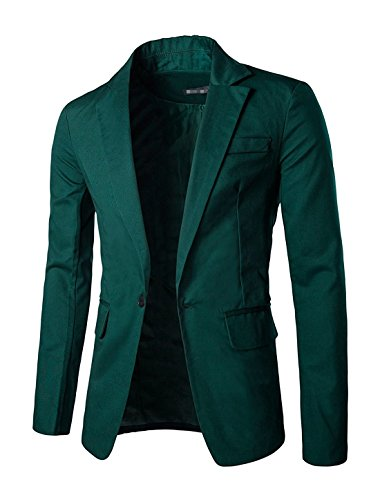 Mgueac Christmas Men Notched Lapel Center-Vent Back One-Button Blazer