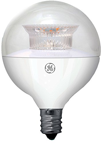 GE Lighting 38263 LED G16 Decorative Bulb with Candelabra Base, 6.5-Watt, Clear Soft White