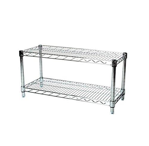 LJ Commercial Chrome Wire Unit 14 x 36-2 Shelf Unit - 18'' Height by LJ (Image #5)
