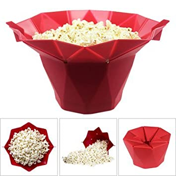 Foldable Silicone Microwave Popcorn Popper Maker