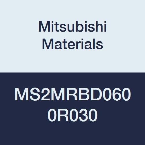 6 mm Cutting Dia Medium Flute 2 Flutes 0.3 mm Corner Radius Mitsubishi Materials MS2MRBD0600R030 Series MS2MRB Carbide Mstar Corner Radius End Mill