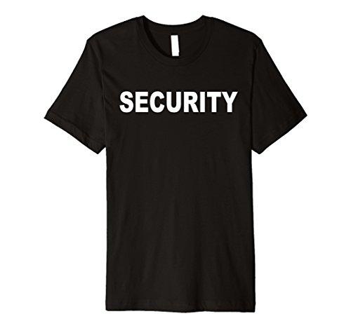 Bodyguard Costumes (Mens Security TShirt - Bodyguard Shirt Large Black)