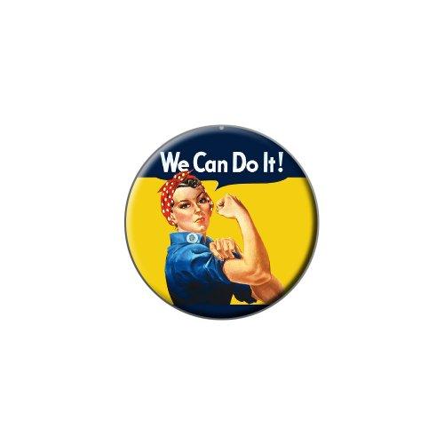Rosie The Riveter - War Poster - Metal Lapel Hat Pin Tie Tack Pinback
