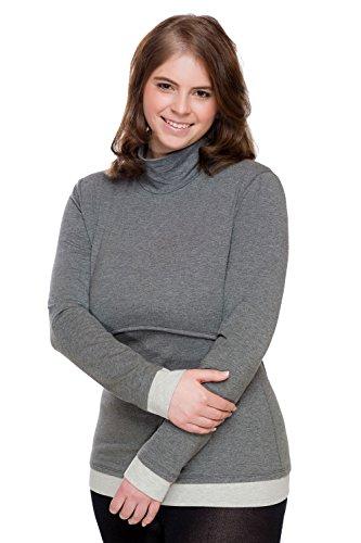 S D'allaitement Col Amyline Mailin Dust Roulé Shirt Tailles L EY5w74qw