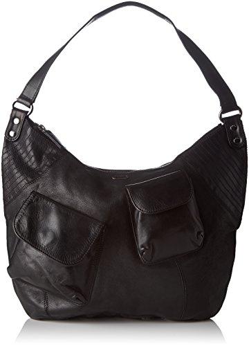 IKKS Mrs Fisher - bolso de bandolera Mujer Negro (Noir)