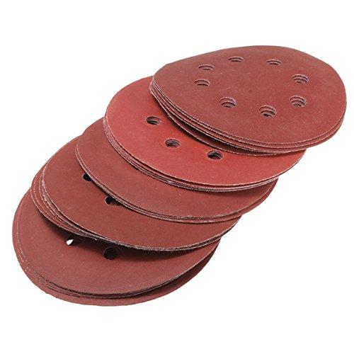 Wishfive 25pcs 5 Inch 125mm 8 Hole Sanding Discs 400-1200 Grit Sandpaper GAIQI