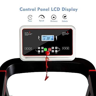 Merax Folding Treadmill, Power Motorized Electric Treadmill Fitness Motorized Running Jogging Machine for Home Office