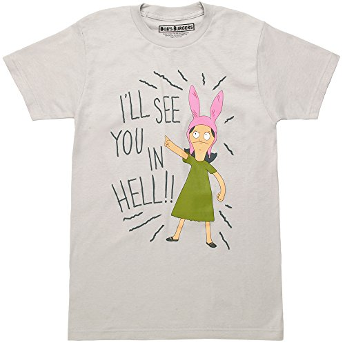 Ripple Junction Bob's Burgers I'll See You In Hell Adult T-Shirt - Silver (Large)]()