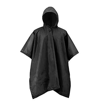 RPS Outdoors 51-114 Adult Rain Poncho Black EVA Waterproof Reusable (50 inch x 80 inch): Automotive