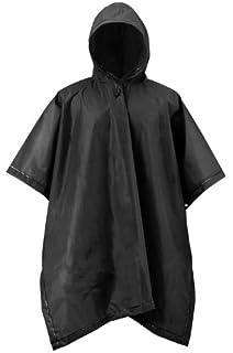 Mossi Adult Rain Poncho Black EVA Waterproof Reusable