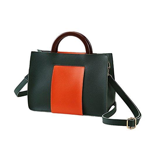 Mounter Piel estilo de Sintética WCC preppy Verde HD Mujer Bags rWqZ67wvr