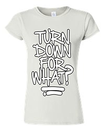 Juniors Cool Hip Turn Down For What? 2 Chains White T-Shirt (Small) (Chain Link T-shirt)