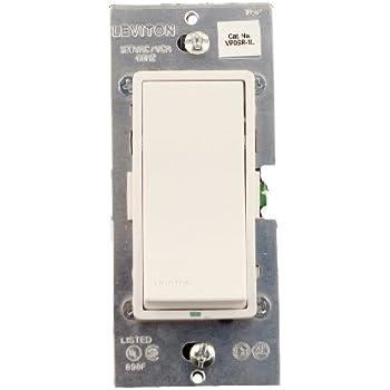 leviton vp0sr 1lz digital matching remote switch white ivory light almond