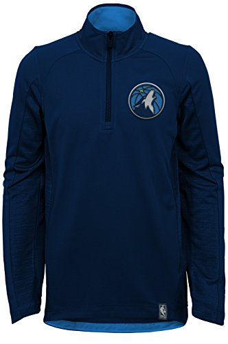 NBA Kids & Youth Boys 'Defensive' 1/4 Zip Top, Minnesota Timberwolves, X-Large(18)