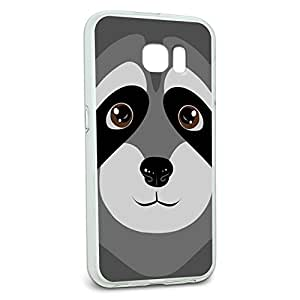 Protective Slim Hybrid Rubber Bumper Case for Galaxy S6 Animal Designs L-Z - Raccoon - Cute
