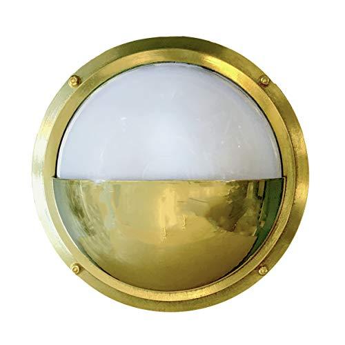 (Bulkhead Moon Light (Indoor/Outdoor, Solid Brass))