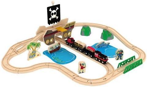 Amazon Com Imaginarium Pirates Bay Treasure Train Set By