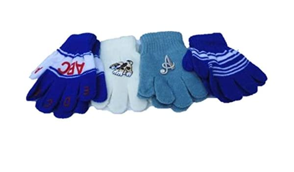 Four Pairs of One Size Magic Stress Gita Gloves for Infants Ages 1-3 Years