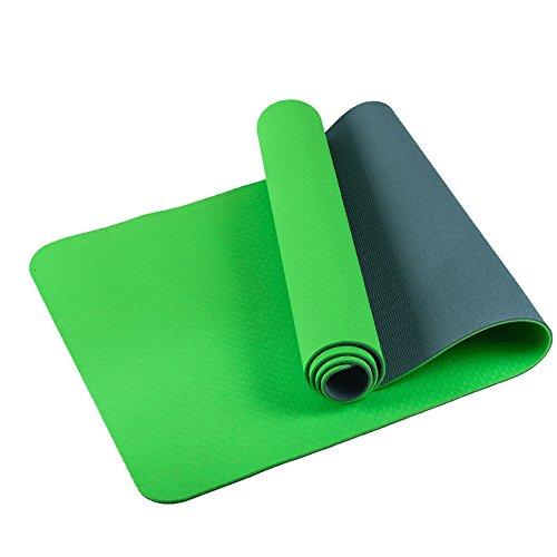 Tapis de yoga / antidérapant tapis d'exercice / inodore tapis de yoga en salle / hommes et femmes tapis de fitness en plein air / 183 * 61cm ( Couleur : Vert )