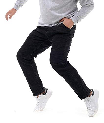 Moda E Vintage T Pantaloni Jeans Uomo Fit Casual Slim Nero Con Da Denim Dritti wwn0zvqA