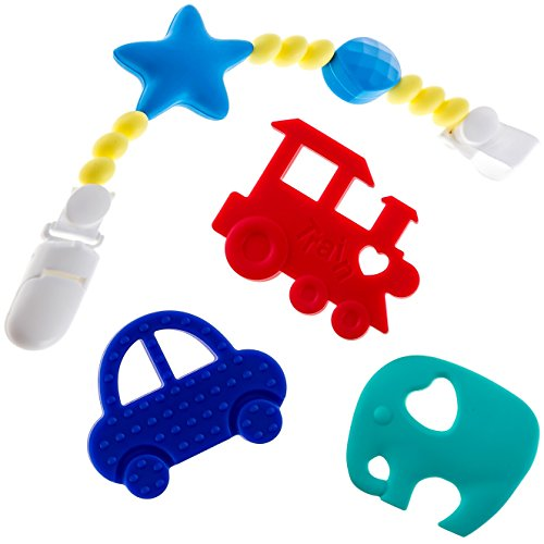 Add Multi Silver Charm (Beabies Teething Toy with Pacifier)