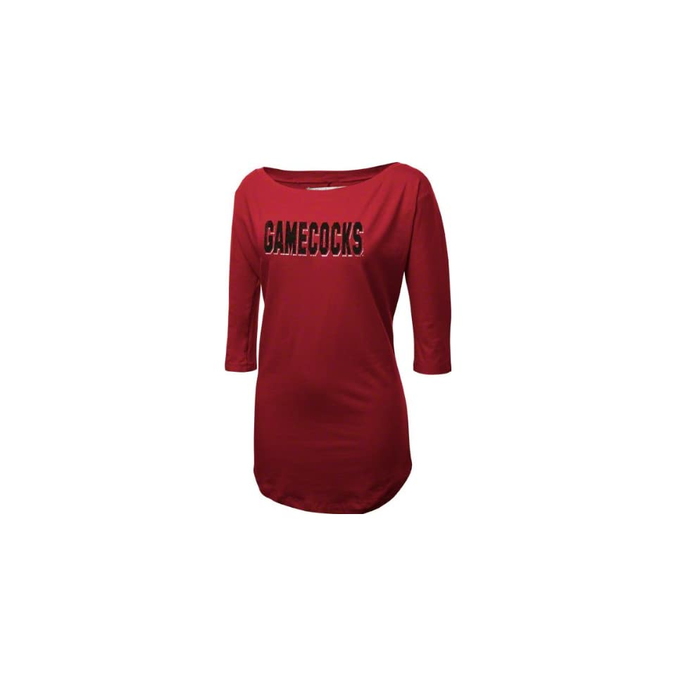 South Carolina Gamecocks Womens Cardinal Boatneck Tunic