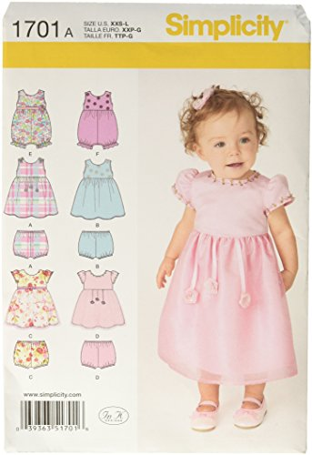 Simplicity 1701 Babies' Dress and Separates Sewing Pattern, Size A (Baby Skirt Pattern)