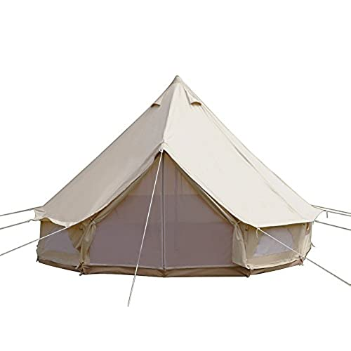 Dream House Diameter 4m Outdoor Luxury Cotton Canvas Family C&ing Bell Tents with Stove Hole  sc 1 st  Amazon.com & Canvas Tents for Camping: Amazon.com