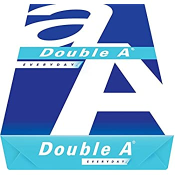 Double A Everyday Copy Paper, 8.5 x 11 Inches Letter Size, 20 lb. Density, 96 Brighter White, Ream, 500 Total Sheets (DA851120 20# Single Ream)