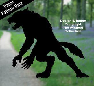 Werewolf Woodcraft Pattern -