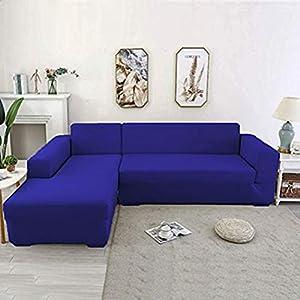Youjoy Housse de canapé, Housse de Canapé Extensible d'angle Couvre pour Canapé en Forme de L élastique 1/2/3/4 Places(Le canapé d'angle en L Doit en Acheter Deux)