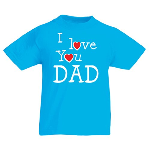 lepni.me T Shirts For Kids I Love You Dad Kids Fathers Day Outfit, Gift From Son, Gift From Daughter - Best Dad Ever (9-11 Years Light Blue Multi - From Christmas Story Mean Boy