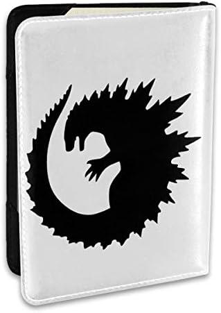 Godzilla Round Vinyl Decal ゴジラ パスポートケース メンズ レディース パスポートカバー パスポートバッグ ポーチ 6.5インチ PUレザー スキミング防止 安全な海外旅行用 収納ポケット 名刺 クレジットカード 航空券