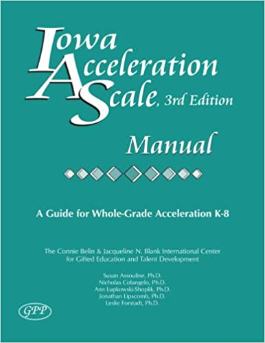 iowa acceleration scale sample test kindergarten
