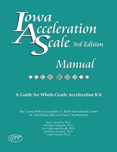 Iowa core manual array iowa acceleration scale manual 3rd edition susan assouline rh amazon com fandeluxe Image collections