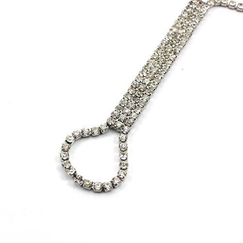 HuaYang Alliage d'argent Bracelet de Cheville Diamante Rhinestone Anklet Ankle Chain Costume