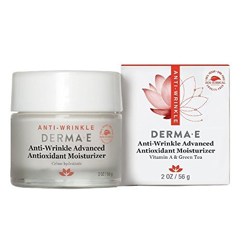 DERMA E Anti-Wrinkle Advanced Antioxidant Moisturizer Cream with Vitamin A and Green tea 2oz (Derma E Vitamin A And E Oil)