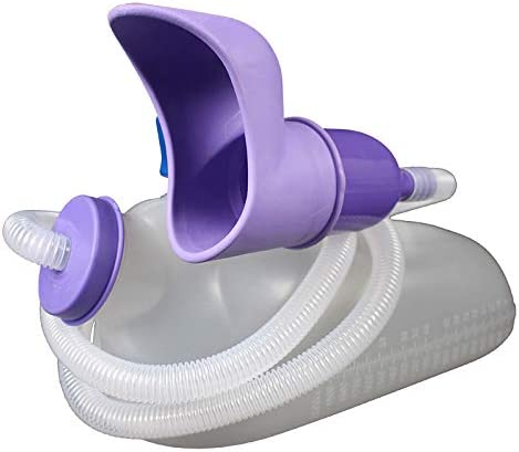 女子ソフトチューブポータブル便器と便器カバー病院のベッドルームのケア白い2000ミリリットルと便器の車の漏れ防止のために