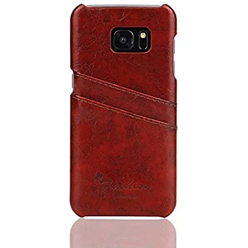 Weston Jewelers Synthetic Leather Ultra Slim Professional Executive Snap On Cover with 2 Card Holder Slots Wallet Card Case for Samsung Galaxy S7 Edge Phone Sales