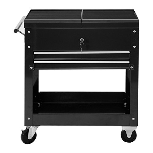 Rolling Rolling Mechanics Tool Cart Slide Top Utility Storage Cabinet Organizer 2 (Ford F350 Pickup Diamond Step)
