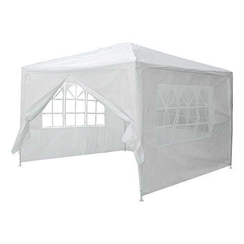 Yescom 10x10' White Outdoor Wedding Party Patio w/Removable Side Wall Canopy for Fetes Event by Yescom (Image #2)'