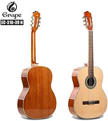 SUNXK 39 Pulgadas de Nivel de Entrada Cuerda de Guitarra clásica ...