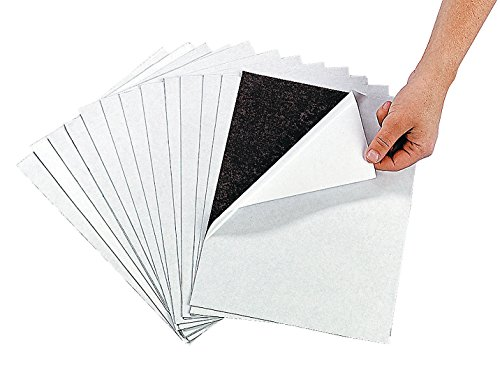 Awesome Adhesive Magnetic Sheets (12 Pack) Peel & Stick + Flexible 8 1/2' X 11'.
