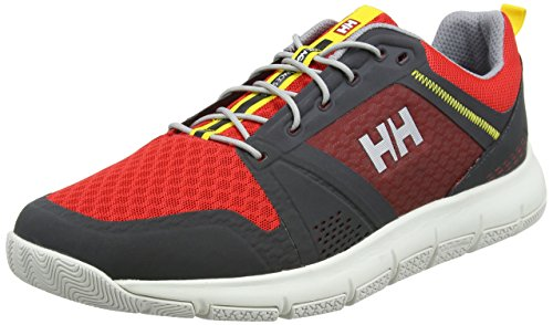 Helly Hansen 2018 Mens Skagen F-1 Offshore Shoe - 11312_980 Ebony / Alert Red / Silve
