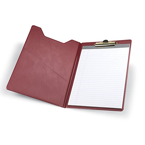 Samsill 71414 Value Padfolio, Heavy Vinyl, Brass Clip, Writing Pad, Inside Pocket, Burgundy by Samsill (Image #4)