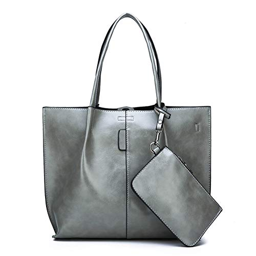 Messenger Capacità Donna pocket Retrò Casual Gray Da Tracolla Multi Grande gray Bag Borsa A Borse Mxqh q4nwWAf7XB