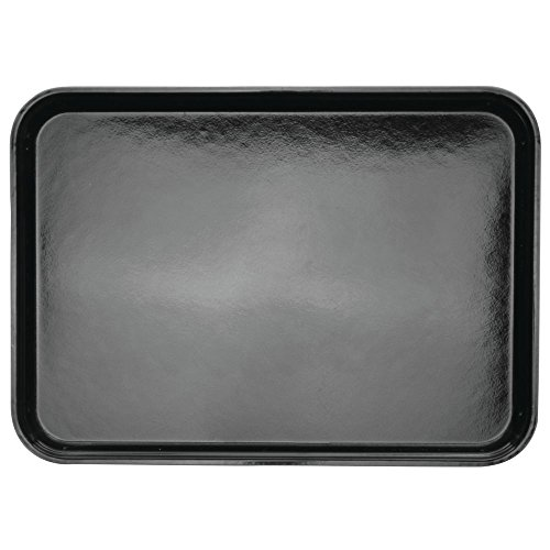 "HUBERT Bakery Tray Meat Tray Market Tray In Black Fiberglass - 18"" L x 13"" W x 1"" H"