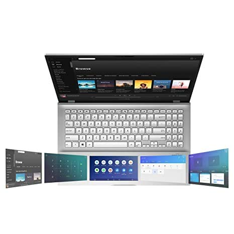 ASUS VivoBook S S15 (2021), 15.6-inch (39.62 cms) FHD Intel Core i7-1165G7 11th Gen, Thin and Light Laptop (8GB/512GB SSD/Office 2019/Windows 10/2GB NVIDIA MX350 Graphics/Silver/1.8 kg) S532EQ-BQ702TS
