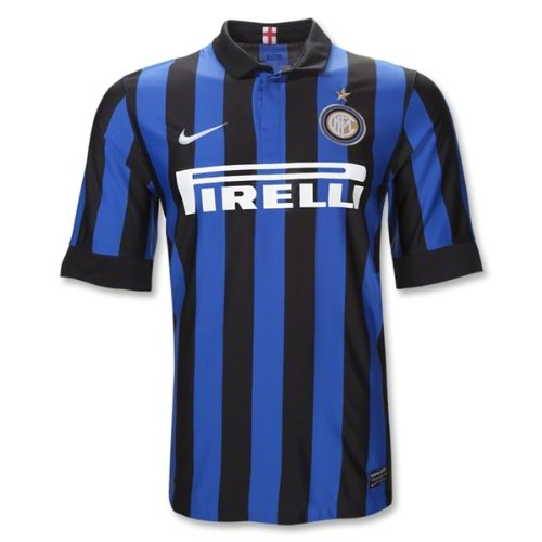 NIKE Mens Inter Milan Home Stadium Jersey [Black] (Large)